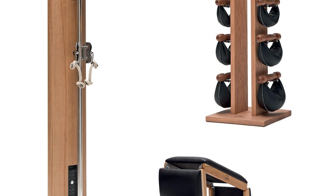 Pack Home Area Fitness con SlimBeam, TriaTrainer e SwingTower, in legno di Ciliegio